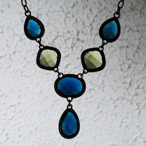 Jewelry - Yellow and blue necklace, blue necklace, jewelry